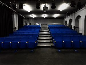 View from the stage with lighting setup